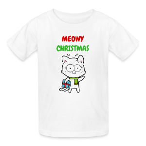 MEOWY CHRISTMAS HOLIDAY CAT - Kids' T-Shirt
