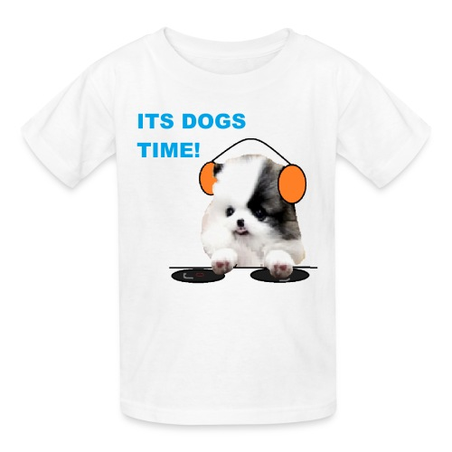 its dogs time! - Kids' T-Shirt