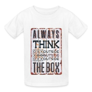 Always think outside the box - Kids' T-Shirt