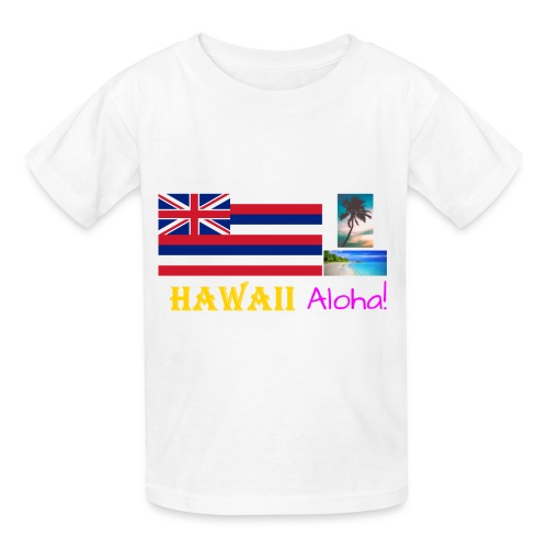 Hawaii T-Shirt (Get White as the Shirt Color) - Kids' T-Shirt