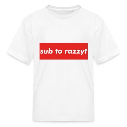 Sub To RazzyT - Kids' T-Shirt