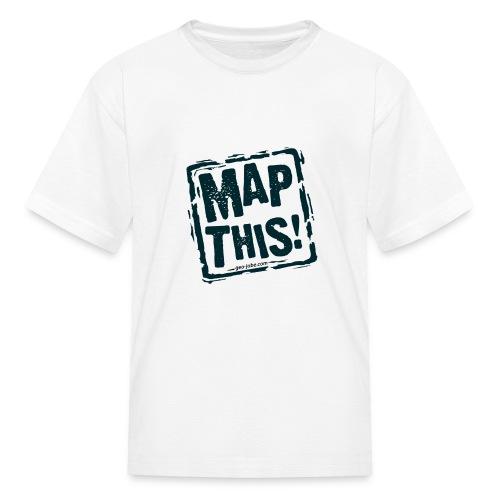 MapThis! Black Stamp Logo - Kids' T-Shirt