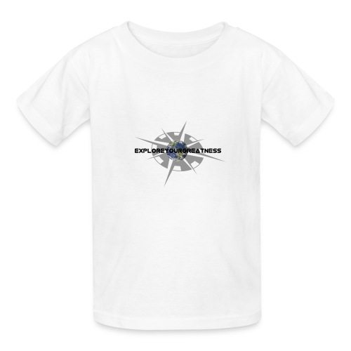 ExploreYourGreatness black logo - Kids' T-Shirt