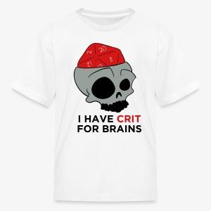 Crit For Brains - Kids' T-Shirt