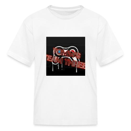 tommms team three merch - Kids' T-Shirt