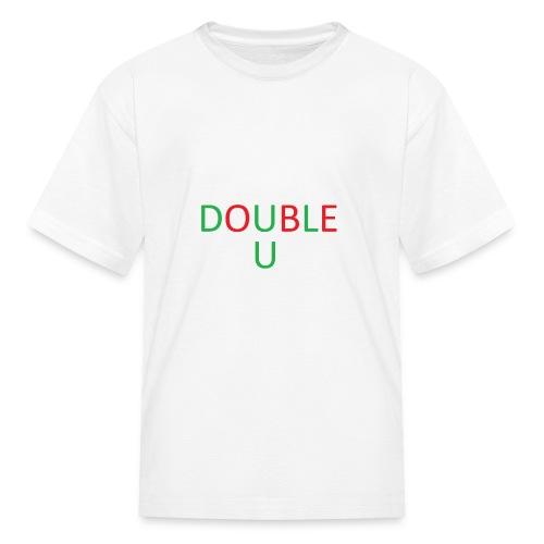 DOUBLE U MERCH - Kids' T-Shirt