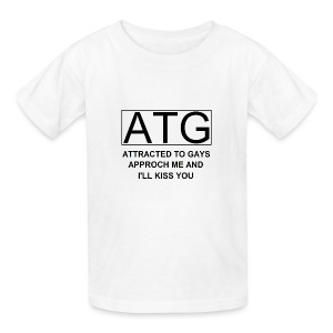 ATG Attracted to gays - Kids' T-Shirt