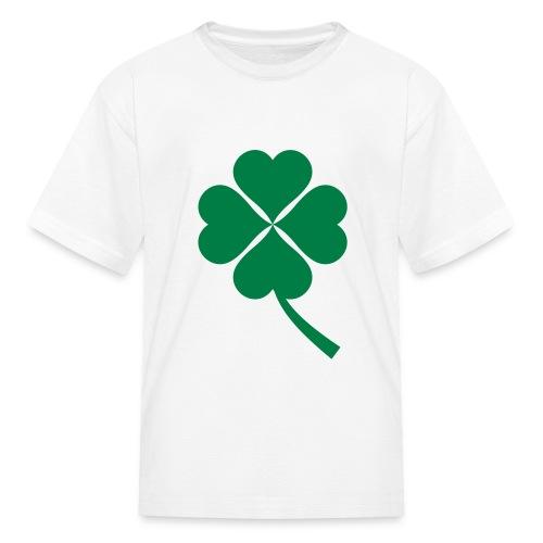 Green Four Leaf Clover - Kids' T-Shirt