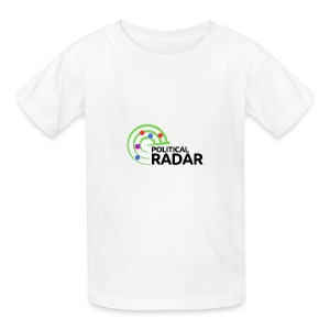 Political Radar Logo - Black - Kids' T-Shirt