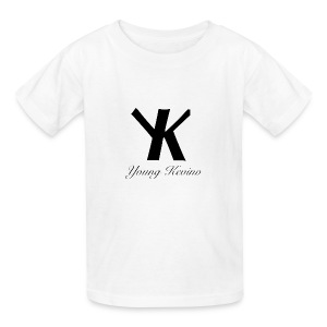 Young Kevino Official Logo (Black) - Kids' T-Shirt