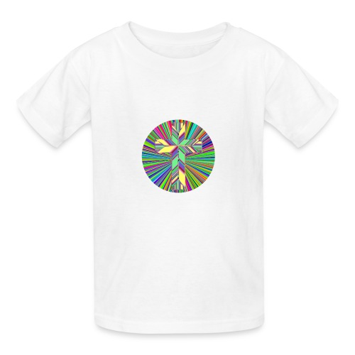 Prismatic Refractive Cross - Kids' T-Shirt