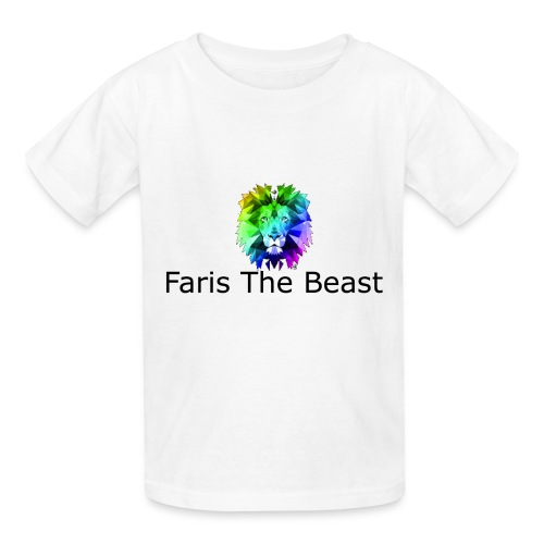 Faris The Beast Text w/ Logo - Kids' T-Shirt