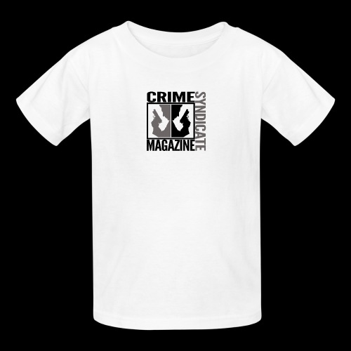 CRIME SYNDIATE MAGAZINE LOGO (No Background) - Kids' T-Shirt