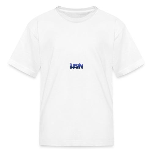 Blue Leon White Tee - Kids' T-Shirt