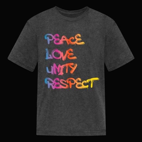 Peace Love Unity Respect - Kids' T-Shirt