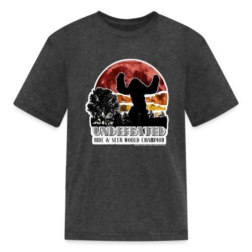 Sasquatch Hide & Seek Undefeated World Champion - Kids' T-Shirt