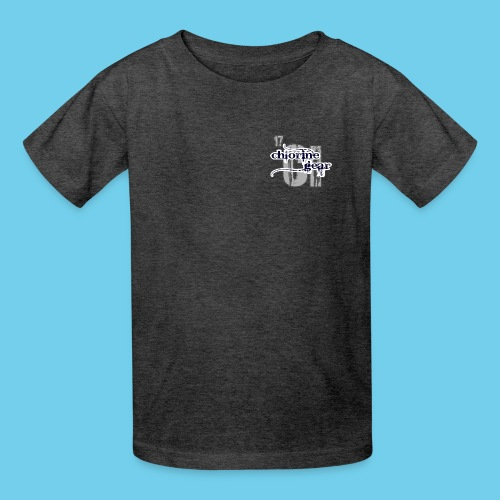 Large Chlorine Gear Relief background Logo - Kids' T-Shirt