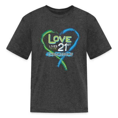 Down Syndrome Love (Blue/White) - Kids' T-Shirt