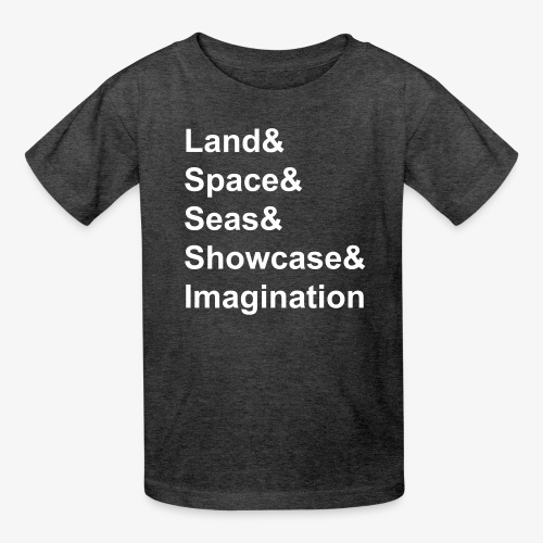 Epcot Attraction Words - Kids' T-Shirt