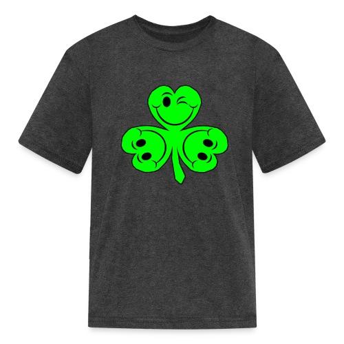 smileycloverleaves1 - Kids' T-Shirt