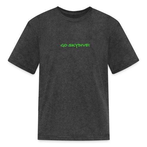 Go Skydive T-shirt/Book Skydive - Kids' T-Shirt