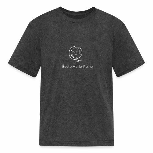École Marie-Reine globe terrestre texte blanc - T-shirt classique pour enfants
