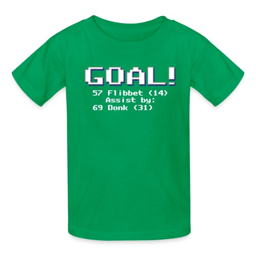 Buzz Flibbet Goal Assisted by Mark Donk - Kids' T-Shirt