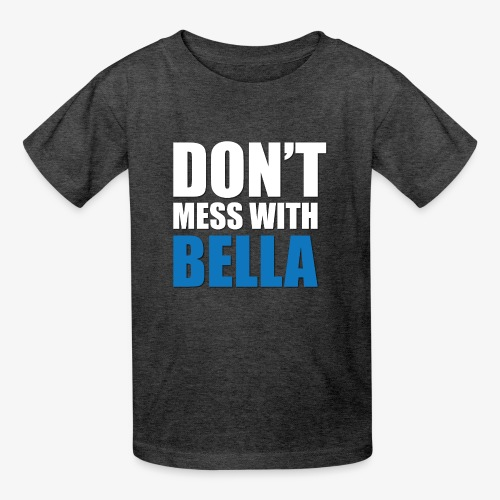 dog bandana dont mess with bella light blue - Kids' T-Shirt