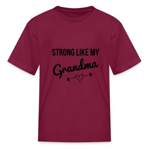 strong like my grandma (black) - Kids' T-Shirt