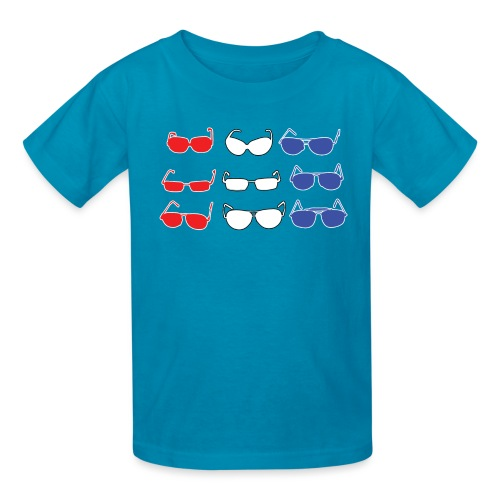 Red White and Blue Sunglasses - Kids' T-Shirt