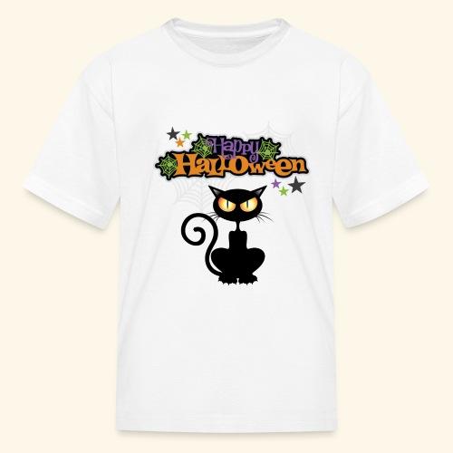 happy holloween BLACCK CAT TEE - Kids' T-Shirt