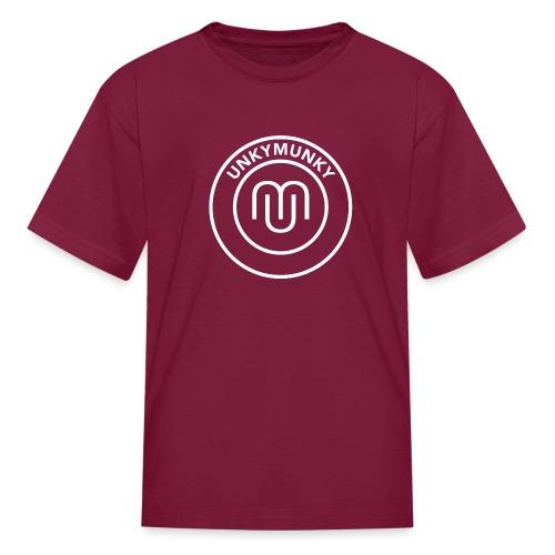 UnkyMunky logo white - Kids' T-Shirt