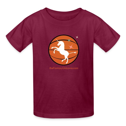 whiteunicornlogoversion2 01text - Kids' T-Shirt