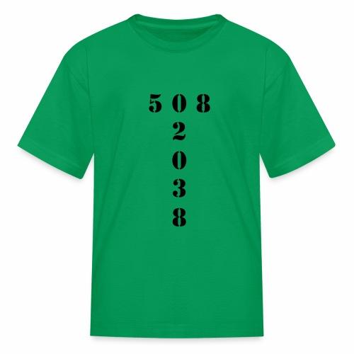508 02038 franklin area/zip code - Kids' T-Shirt