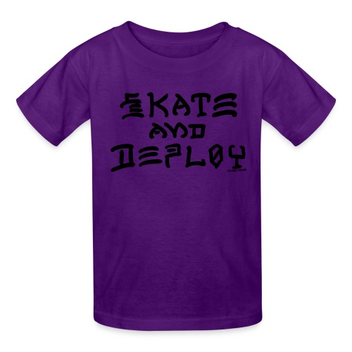 Skate and Deploy - Kids' T-Shirt