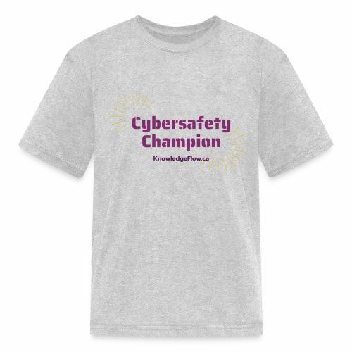 Cybersafety Champion - Kids' T-Shirt