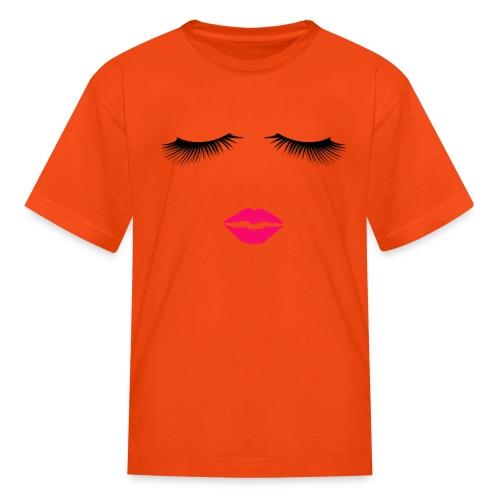 Lipstick and Eyelashes - Kids' T-Shirt