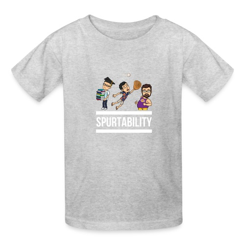 Spurtability White Text - Kids' T-Shirt