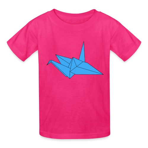 Origami Paper Crane Design - Blue - Kids' T-Shirt