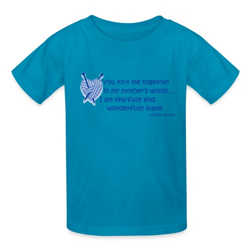 Fearfully and Wonderfully made - boys - Kids' T-Shirt