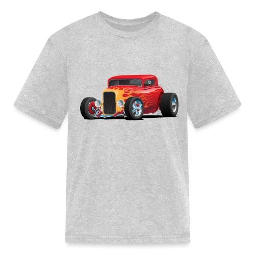 Classic Bold Red Custom Street Rod - Kids' T-Shirt