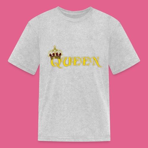 GOLD QUEEN CROWN GEMS AND DIAMONDS - Kids' T-Shirt