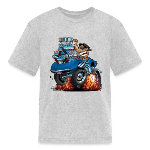 Classic '69 American Sports Car Cartoon - Kids' T-Shirt
