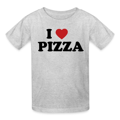 i heart pizza 2 color - Kids' T-Shirt