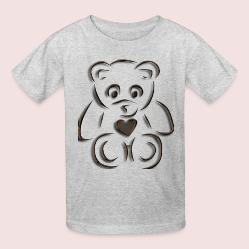 realistic teddy - Kids' T-Shirt