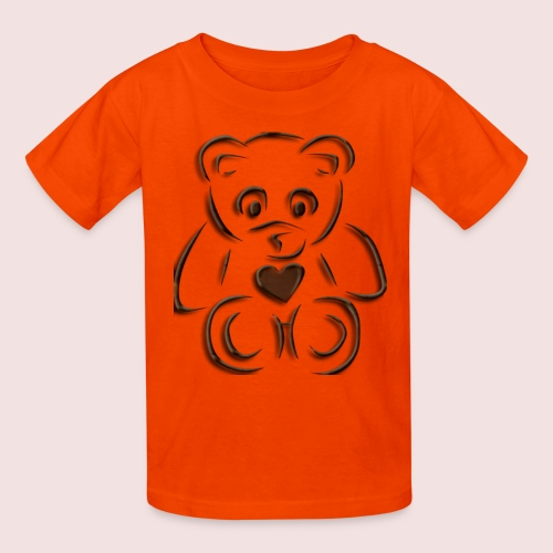 realistic teddy - Kids' T-Shirt