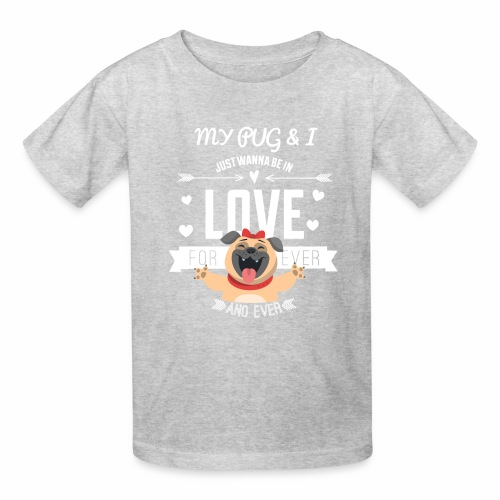In love with my PUG - Kids' T-Shirt