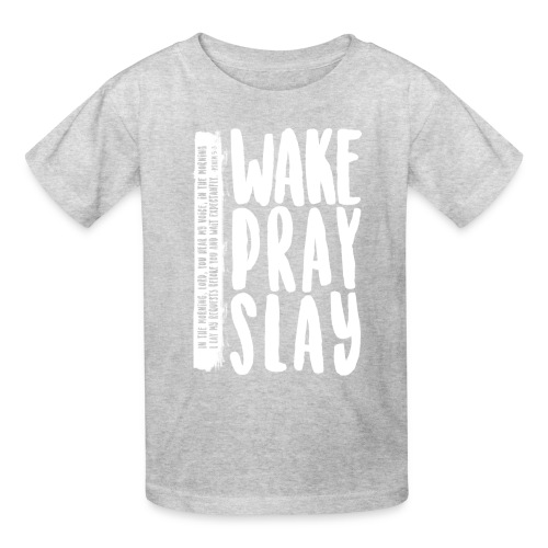 Wake Pray Slay Scripture Tee - Kids' T-Shirt