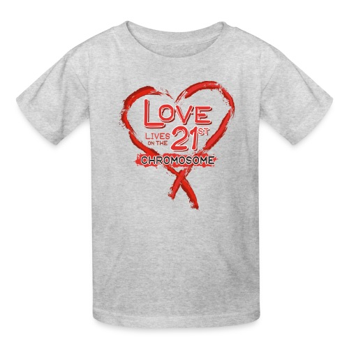 Down Syndrome Love (Red) - Kids' T-Shirt