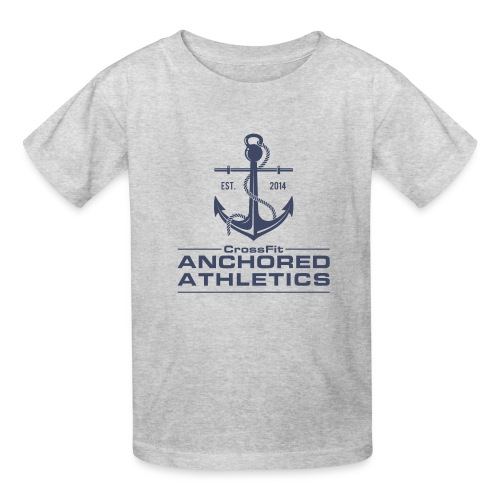 CrossFit Anchored Athletics Vertical Blue - Kids' T-Shirt